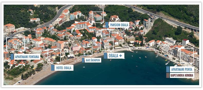 rafailovici crna gora mapa Hotel Obala   Rafailovici rafailovici crna gora mapa